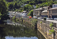River Derwent Matlock Bath Derbyshire. Matlock Bath taken from Jubilee Bridge Royalty Free Stock Images