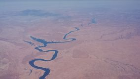 River Desert Arial View Looking Down Stock Images
