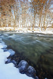 River Deveron in winter spate in Scotland. Royalty Free Stock Photos