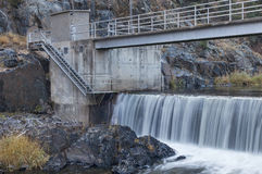 River diversion dam Stock Photography
