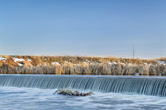 River diversion dam in Colorado Royalty Free Stock Photography