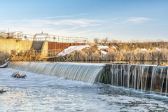River diversion dam in Colorado Stock Photos