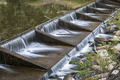 River diversion dam on Poudre River Royalty Free Stock Photography