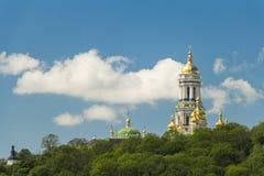 River Dnieper view in spring, Kiev, Ukraine Royalty Free Stock Images