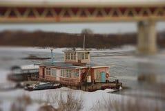 River dock shot on Tilt Shift Stock Photography