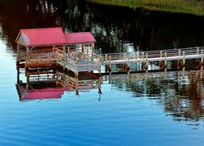 River Dock. Dock on the US international waterway Royalty Free Stock Photos