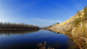 River Don in Russia. Photographed in the fall before the formati Stock Photos