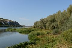 The River Don. VORONEZH REGION, RUSSIA - SEPTEMBER 11, 2014: Don is a river in the European part of Russia. In catchment area equal to 422 thousand km2, in Stock Photos