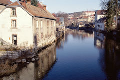 River of Doubs in Pontarlier city, France Stock Image