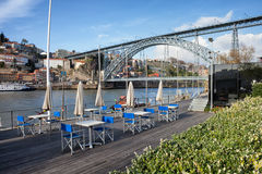 At River Douro In Gaia And Porto Stock Photos