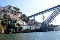 River Douro and the historic iron bridge Royalty Free Stock Photo