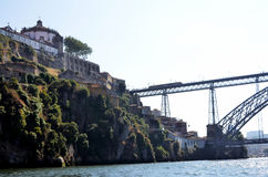 River Douro and the historic iron bridge Royalty Free Stock Image