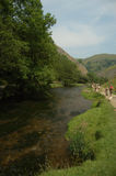 By the river dove. Dovedale,uk Stock Photos