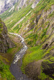 River down the Voringfossen waterfall in Norway Royalty Free Stock Photography