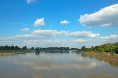 River Drava near Osijek Royalty Free Stock Photography