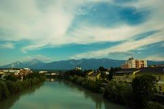 River Drava in Villach Stock Photos