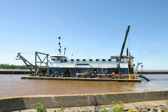 River Dredge Royalty Free Stock Image