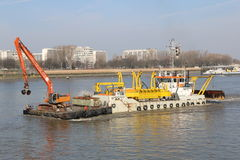 River Dredging. Stock Photography