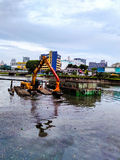 River dredging royalty free stock photos