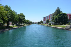 River Drim, City of Struga,Macedonia Royalty Free Stock Image