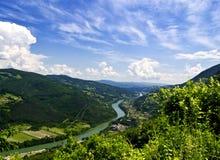 River Drina. Serbia, landscape photo royalty free stock photography