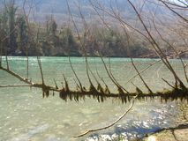 River Drina. Fishing on the Drina River  and rafting royalty free stock photos
