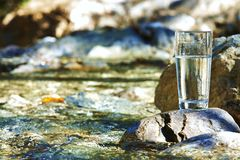 River in drinking water quality Stock Image