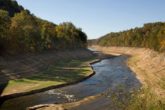 River during drought Royalty Free Stock Photography