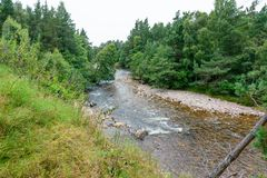 River Druie in the Cairngorms National Park, Scotland Stock Image