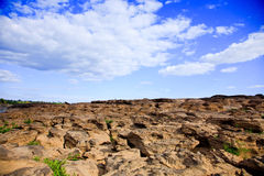 River dry. The arid landscape of the river dry Stock Image