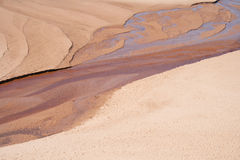 River in dunes. Shallow river in sand dunes Royalty Free Stock Image