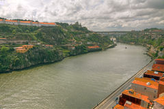 River Duoro valley Porto, Portugal royalty free stock photos