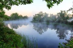 River at early morning tme Royalty Free Stock Photos