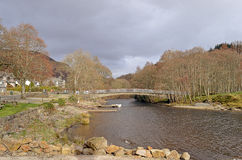 River Earn at St Fillans, Perthshire, Scotland Royalty Free Stock Photo