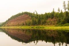 River of Eastern Siberia. Right tributary of the Yenisei. Krasnoyarsk Territory. Royalty Free Stock Photography