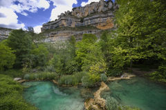 River Ebro canyon Royalty Free Stock Image