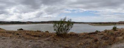The river Ebro. On its way through Caspe, Aragon stock photos