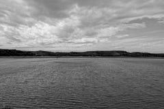 The river Ebro. On its way through Caspe, Aragon royalty free stock photo