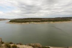 The river Ebro. On its way through Caspe, Aragon royalty free stock photos