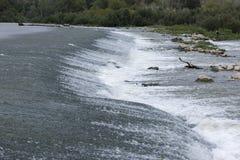 The river Ebro. On its way through Escatron, Aragon stock photo