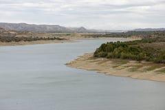 The river Ebro. On its way through Caspe, Aragon royalty free stock image