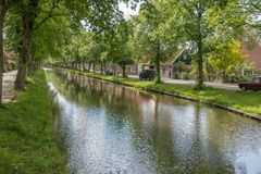 River in Edam, The Netherlands Royalty Free Stock Photography