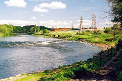 River Eden. The river Eden at Carlisle, Cumbria, England, UK Royalty Free Stock Photo