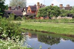 River Eden in Hever Rd, Hever, Edenbridge, Kent, England Stock Photos