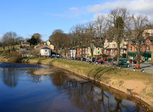 River Eden and the Sands, Appleby, Cumbria Stock Photo