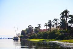 River in Egypt, Nile in Africa royalty free stock photo