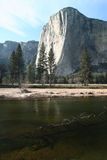 River with El Capitan in background. Royalty Free Stock Photography