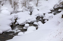 River in El Tarter. Canillo. Principality of Andorra Royalty Free Stock Photos