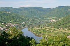 River Elbe, Czech republic Stock Photo
