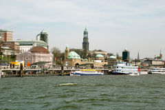 River Elbe in Hamburg Stock Photos